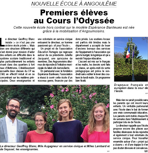 Article Courrier français