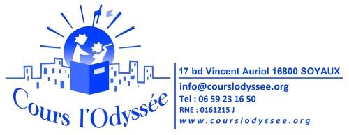 Cours l'Odyssée - 17 bd Vincent Auriol 16800 Soyaux